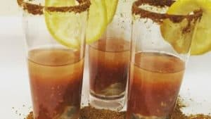 three oyster shooters