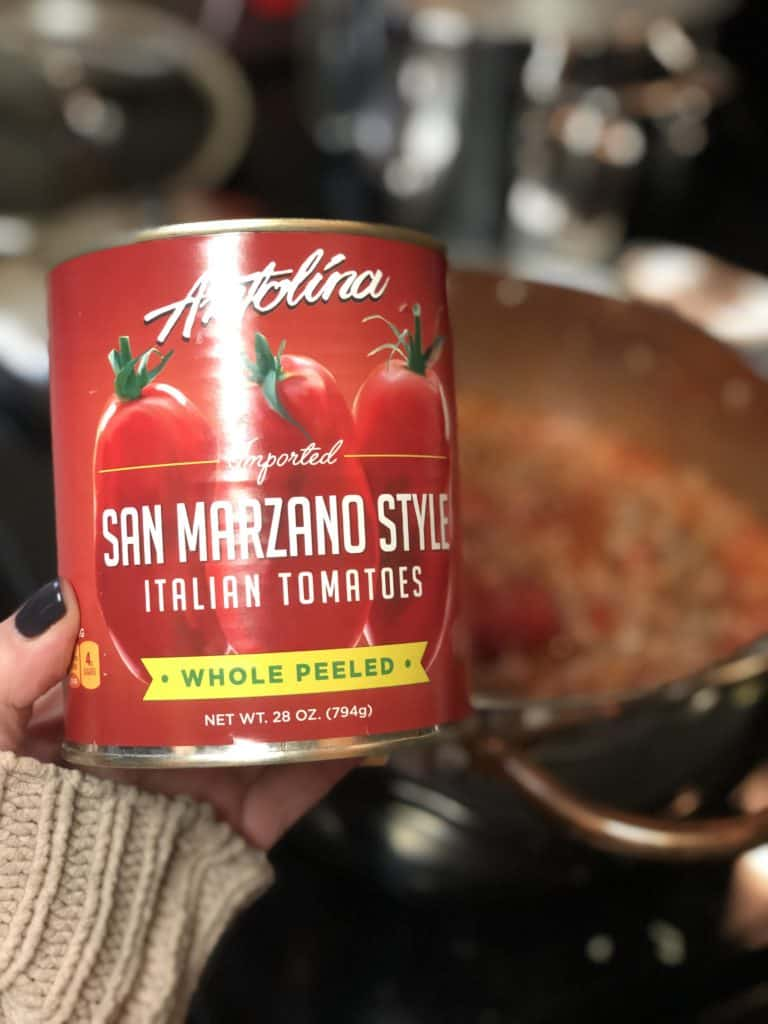 a can of San Marzano tomatoes