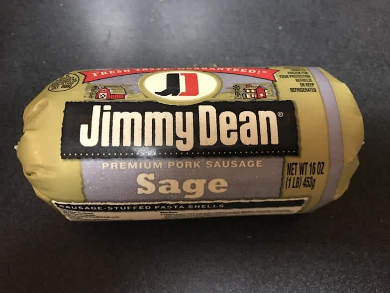 a package of Jimmy Dean Sausage for Sausage Stuffing