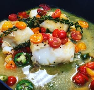 cod with cherry tomatoes