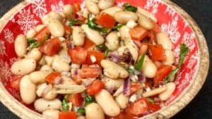 a bowl of tuscan beans