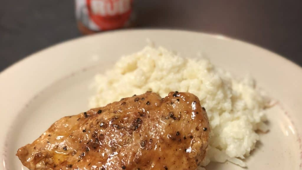 chicken breast with a side of mashed cauliflower