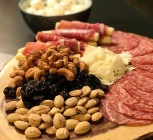a charcuterie and cheese board