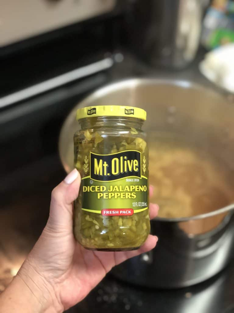 a jar of diced jalapeños