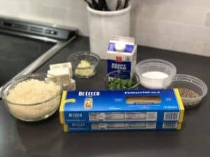 ingredients for fettuccine alfredo