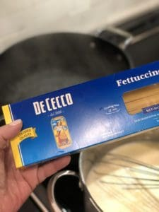 a box of pasta