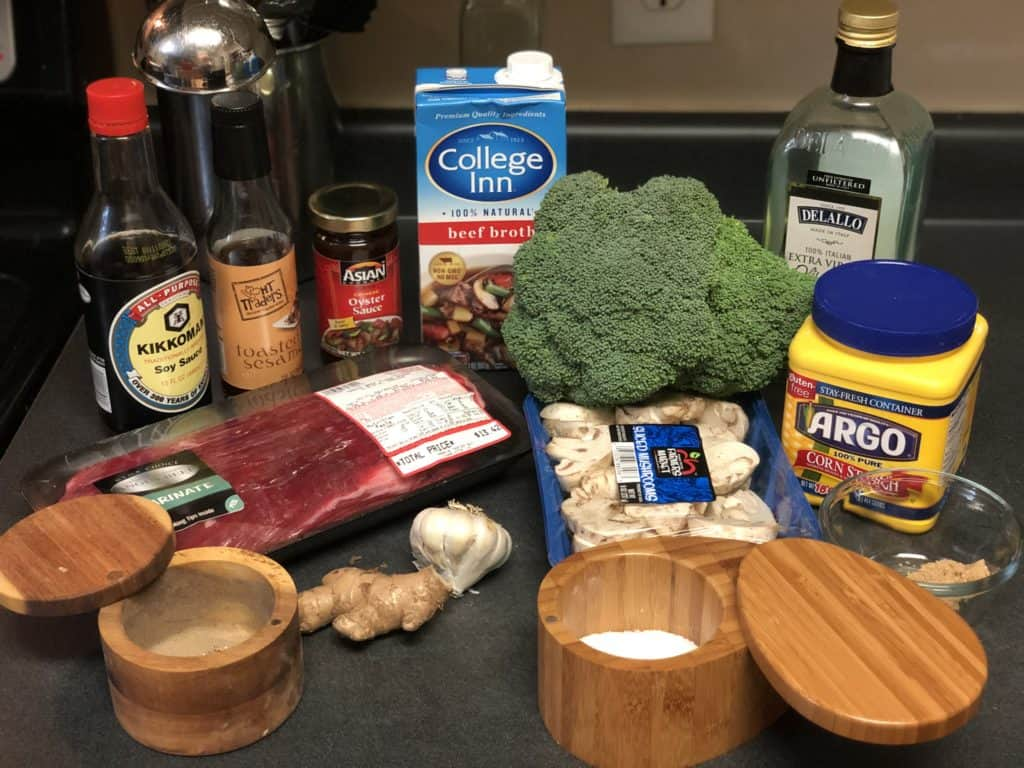 ingredients for beef and broccoli
