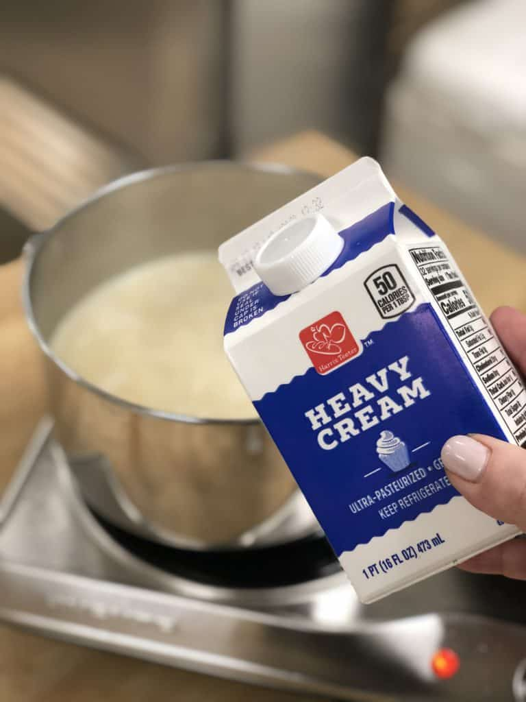 a carton of heavy whipping cream