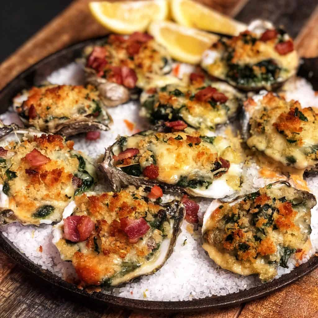 a plate of Oysters Rockefeller