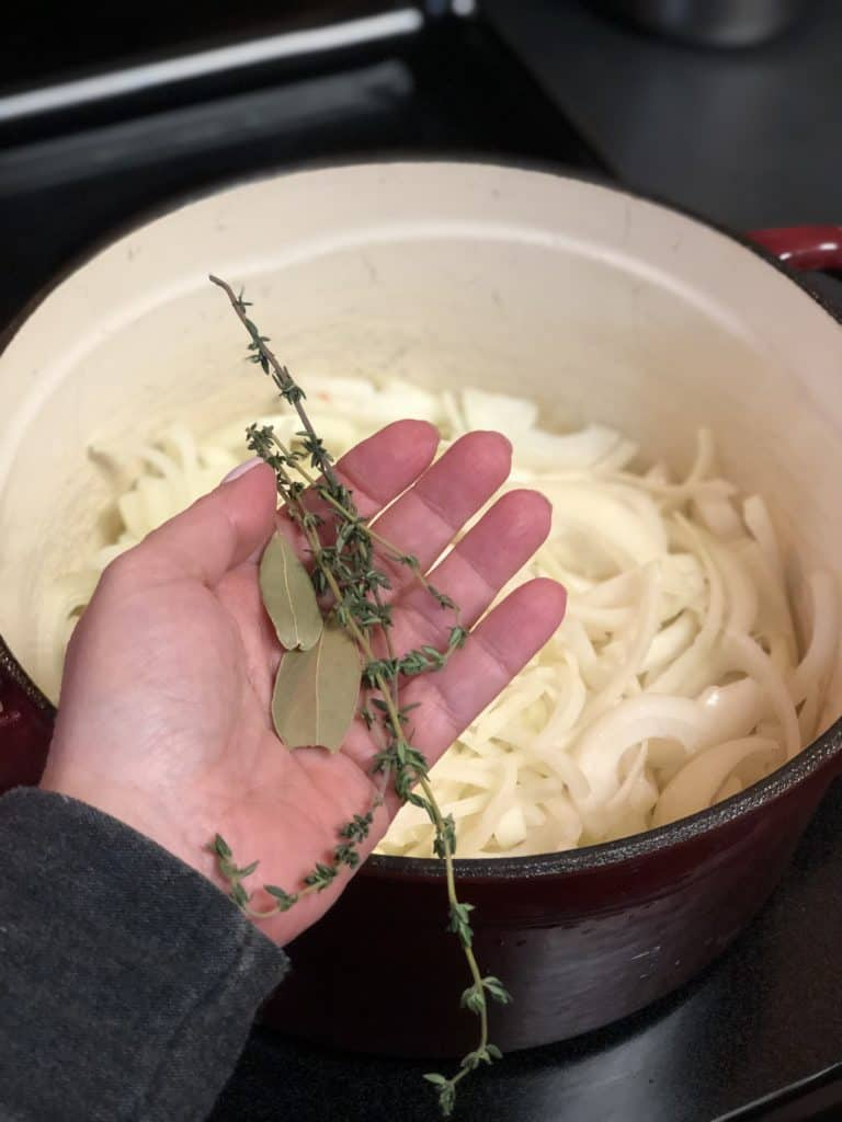 thyme for french onion soup