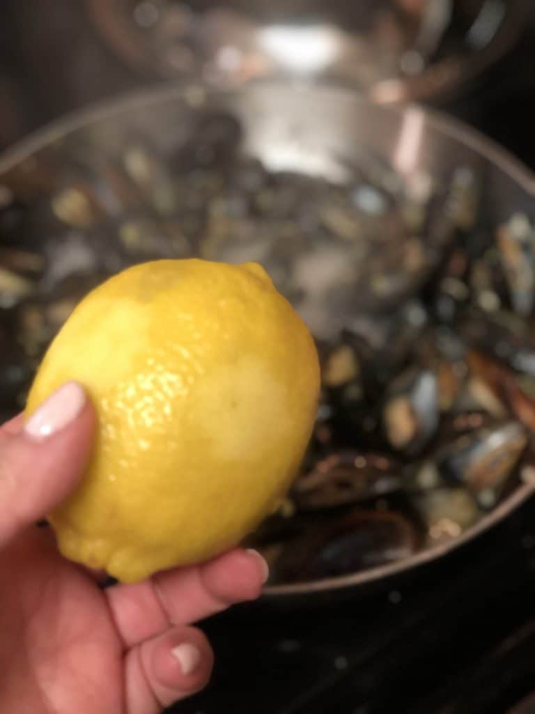 me holding a lemon