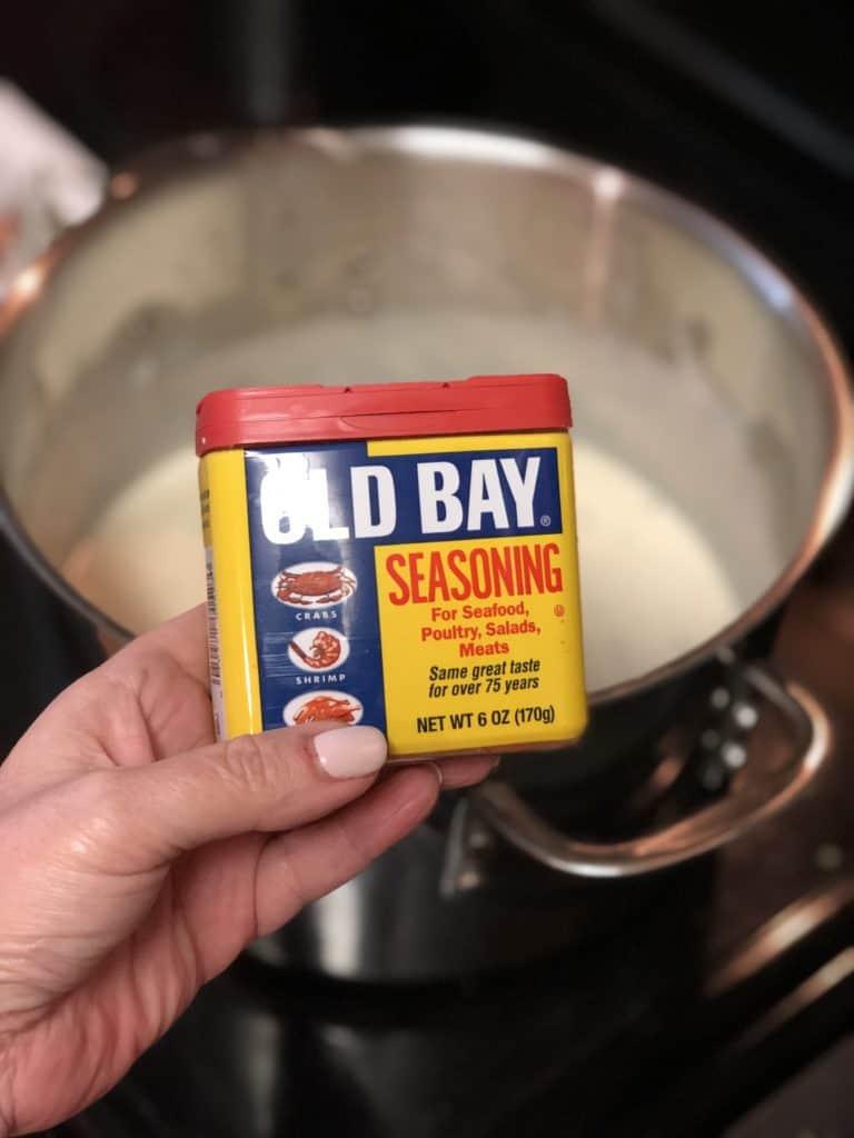 a box of old bay seasoning