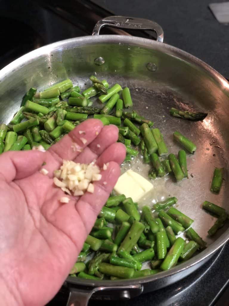 a handful of minced garlic
