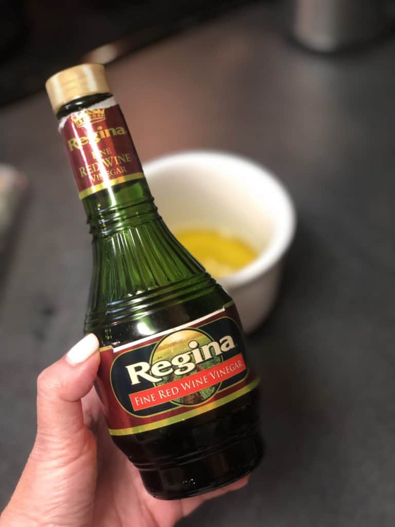 a bottle of red wine vinegar