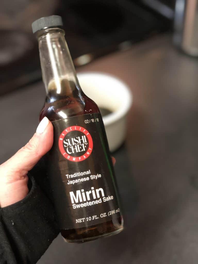 a bottle of mirin