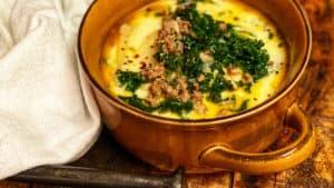a crock of soup