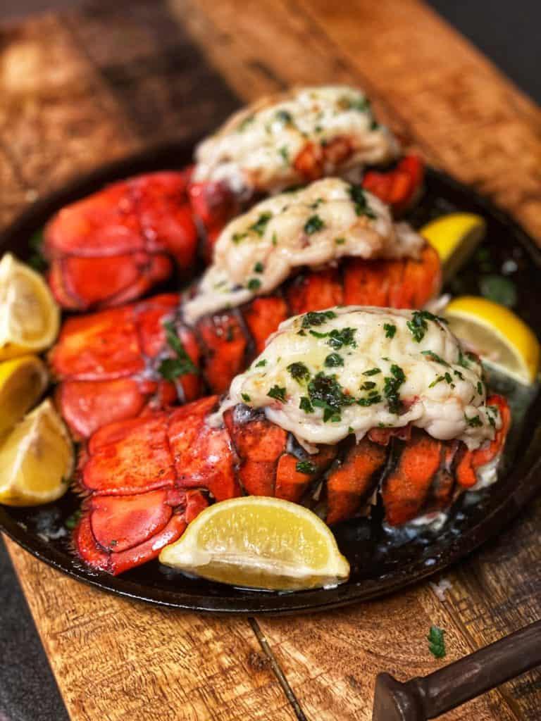 three lobster tails