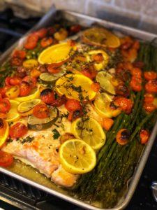 one pan roasted salmon