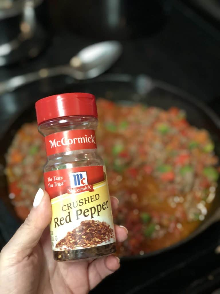 a jar of McCormick crushed red pepper