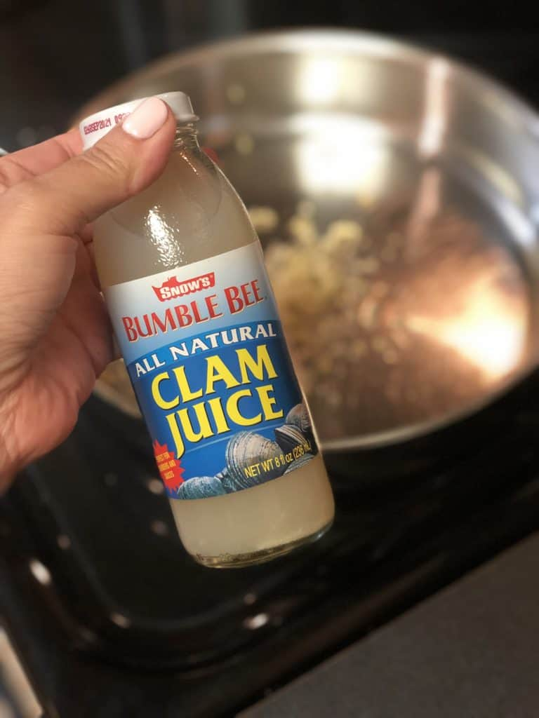a bottle of clam juice