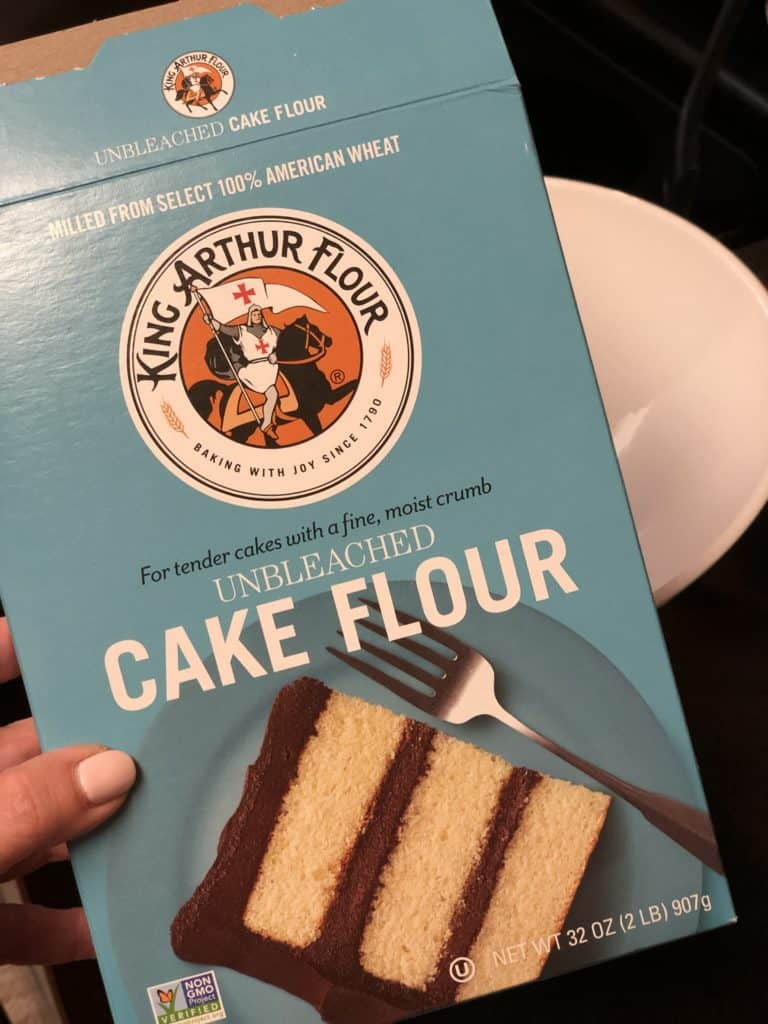 a box of cake flour
