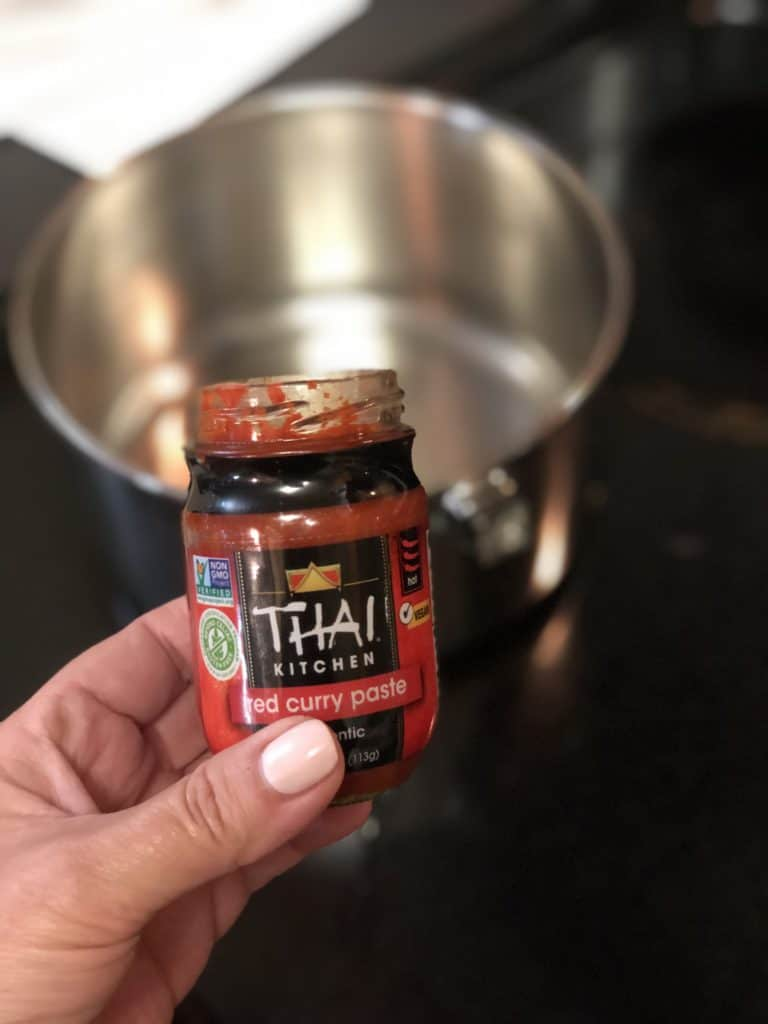 a bottle of Thai kitchen red curry