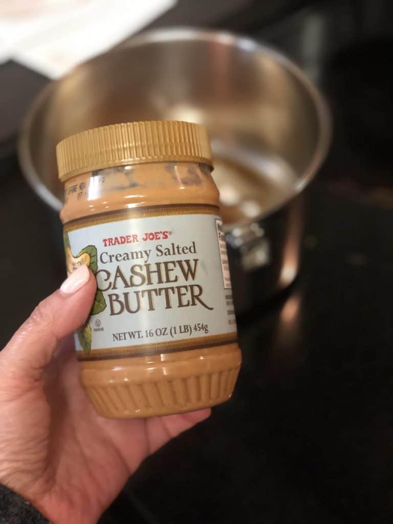 a jar of Trader Joe's cashew butter