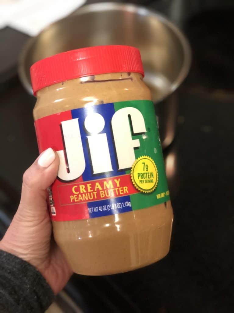 a jar of Jif creamy peanut butter