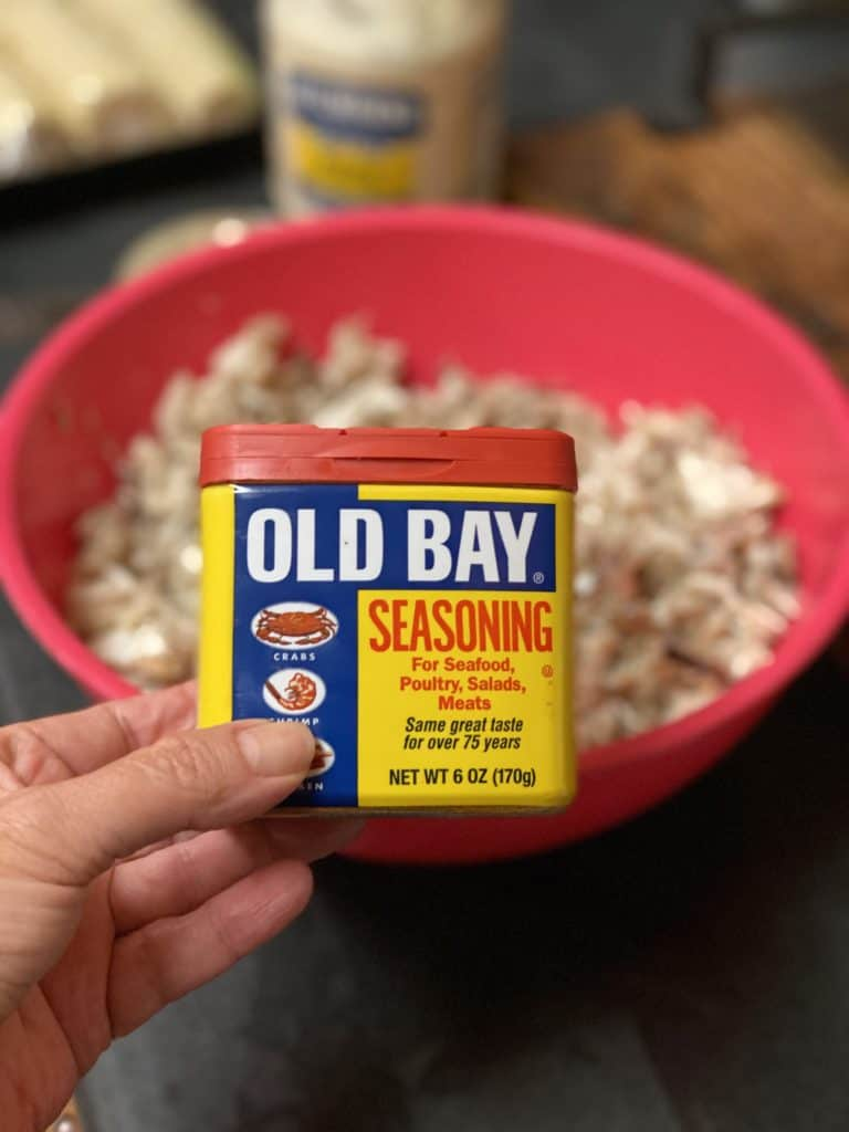 a container of Old Bay seasoning
