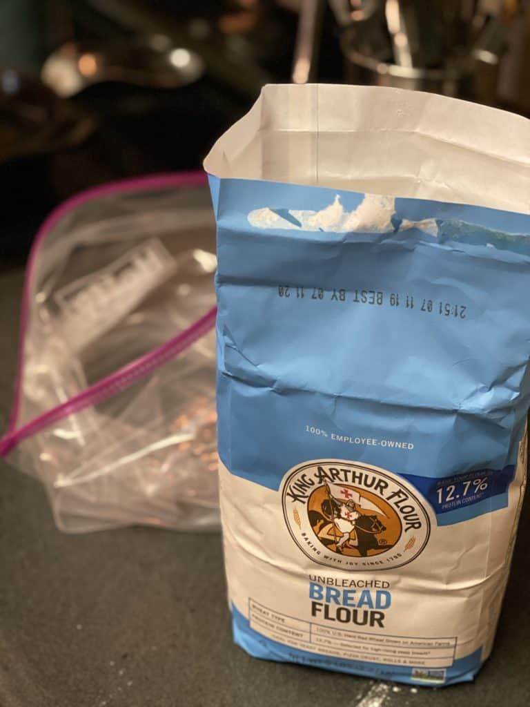 a bag of king arthur flour
