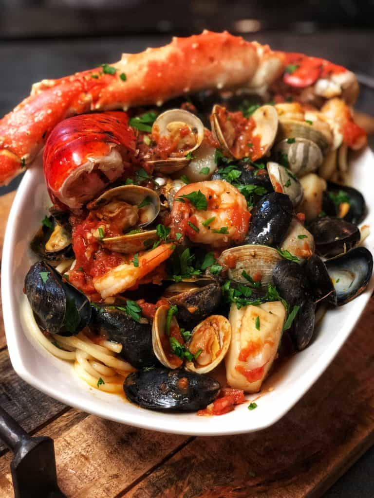 SEAFOOD PASTA FRA DIAVOLO - Carolina Meat & Fish Co