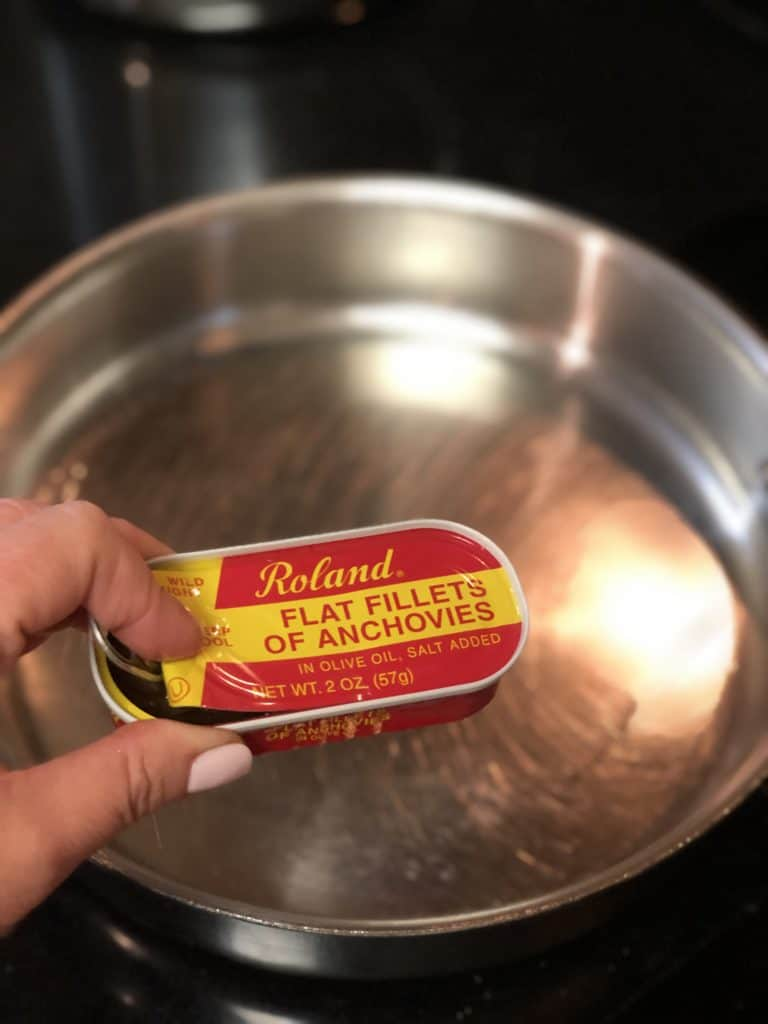 a can of anchovies