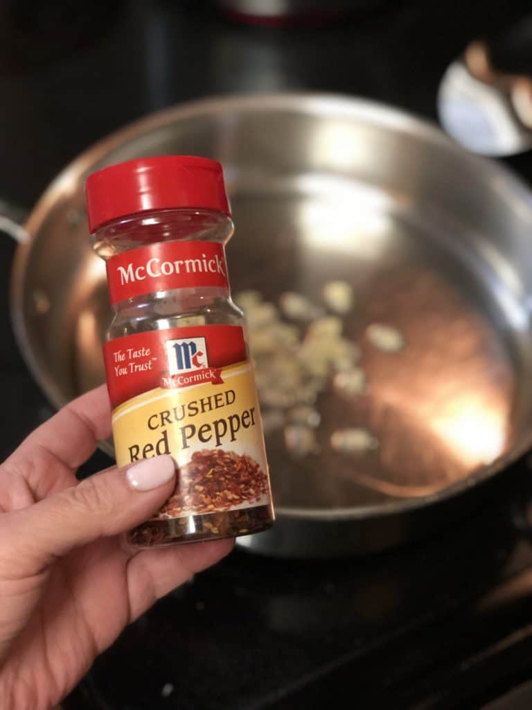 a jar of McCormick crushed red pepper