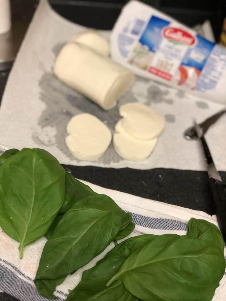 fresh mozzarella and fresh basil