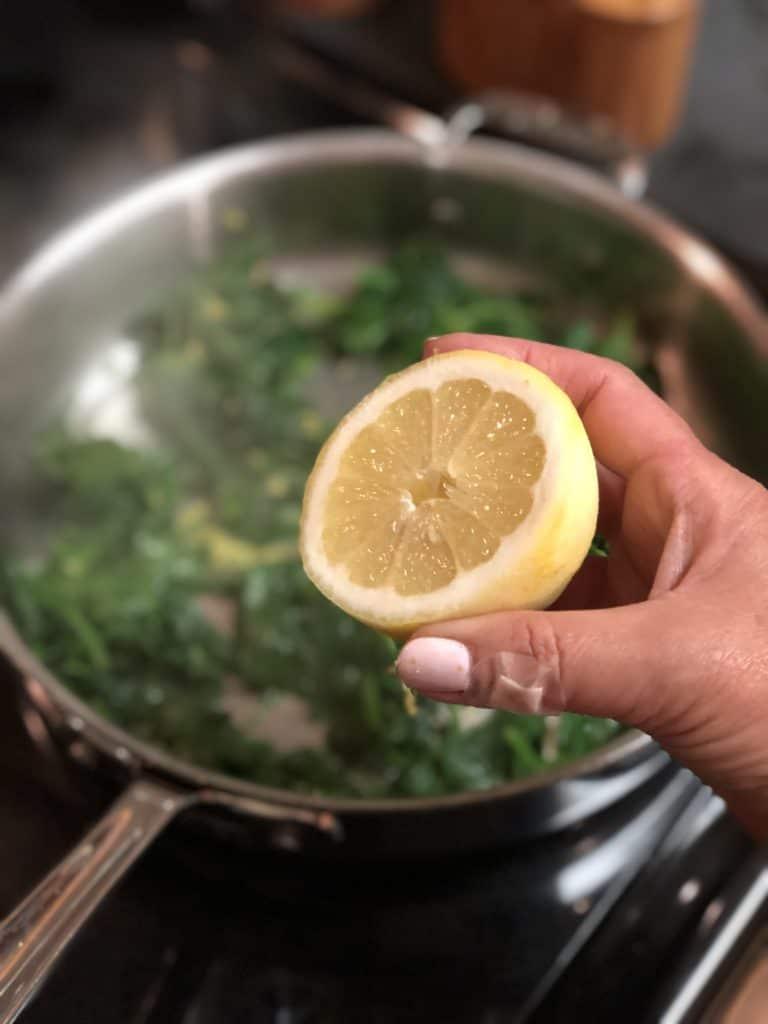 one half of a lemon