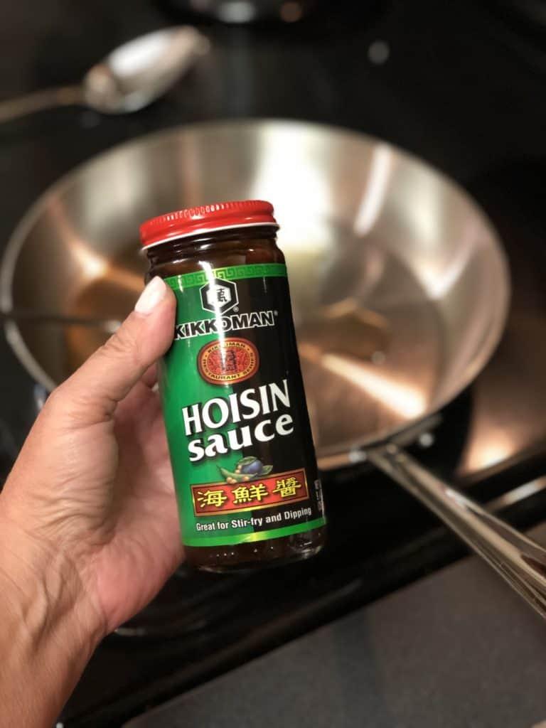 a bottle of hoisin sauce