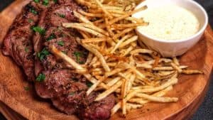 Steak and Fries with Lemon Aioli
