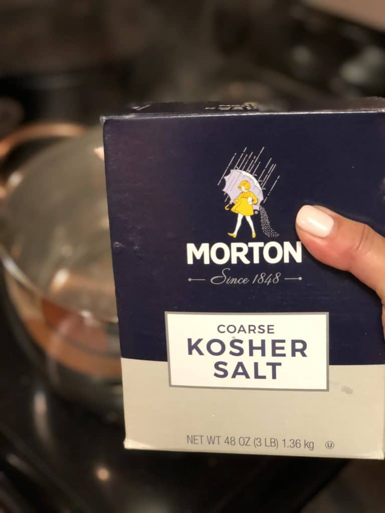 a box of Morton kosher salt