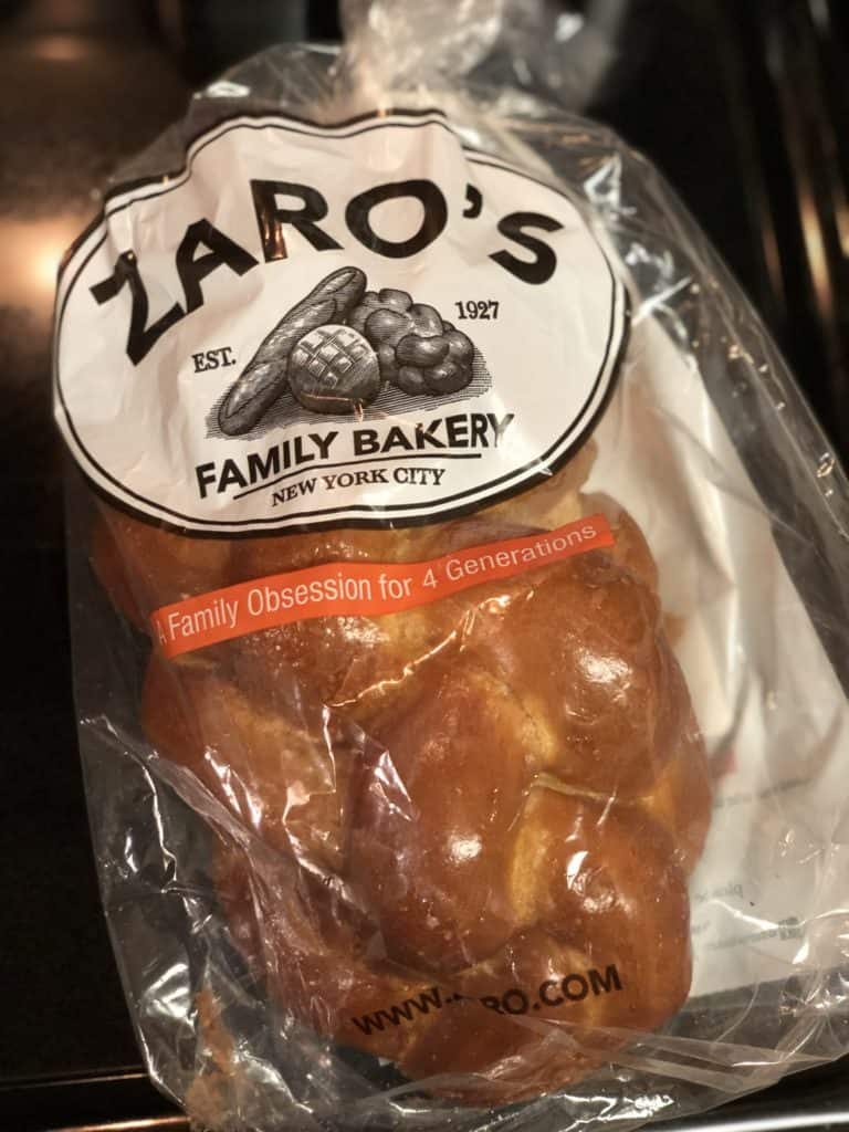 Loaf of Zaro's Challah Bread