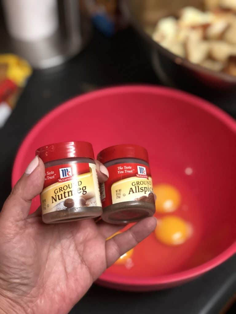 jars of nutmeg and allspice