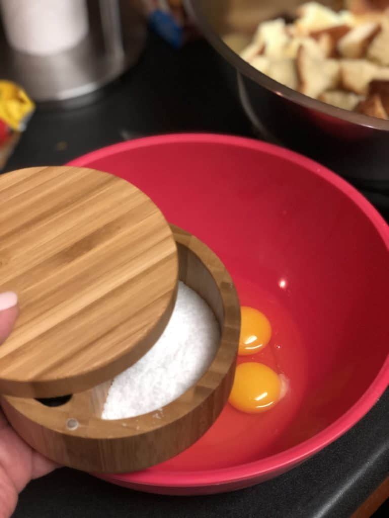 salt in a salt keeper
