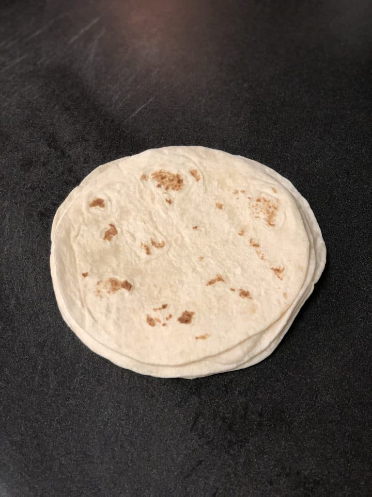 soft tortillas stacked