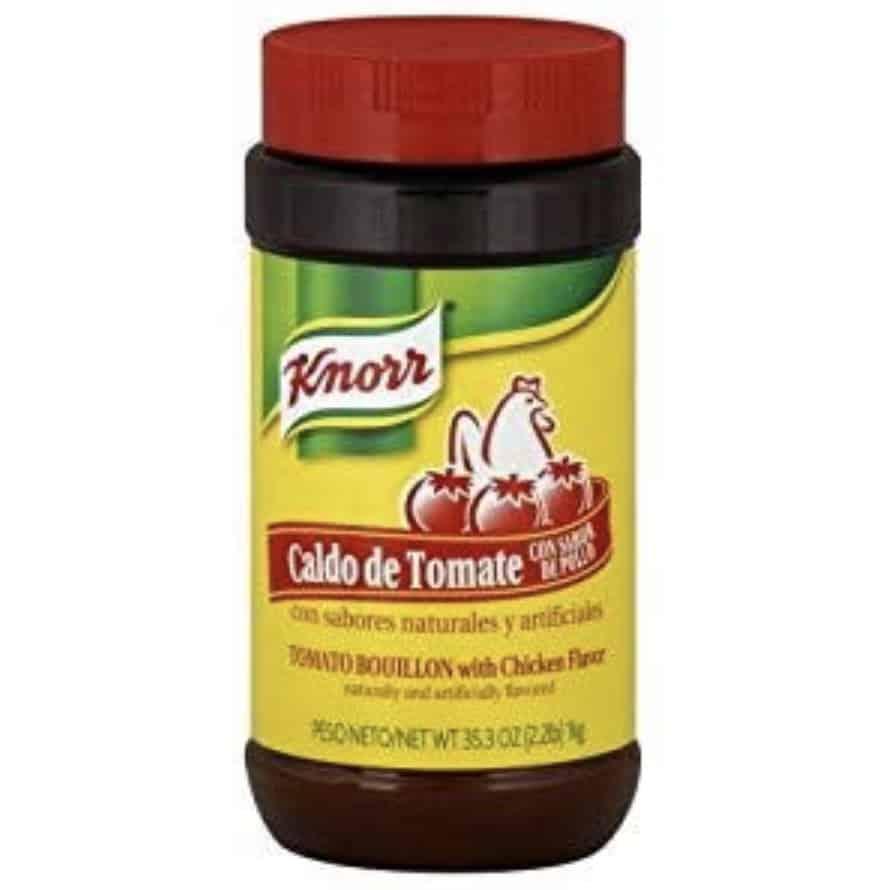 Jar of Knorr Caldo de Tomatoe