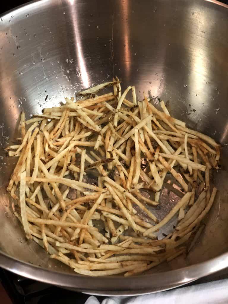 fries for my steak frites with lemon aioli