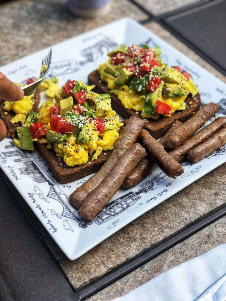 Avocado Toast and Sausage