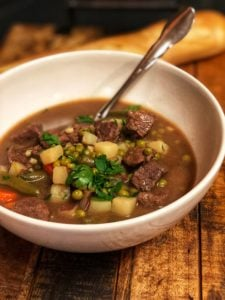 A bowl of Hearty Beef Stew