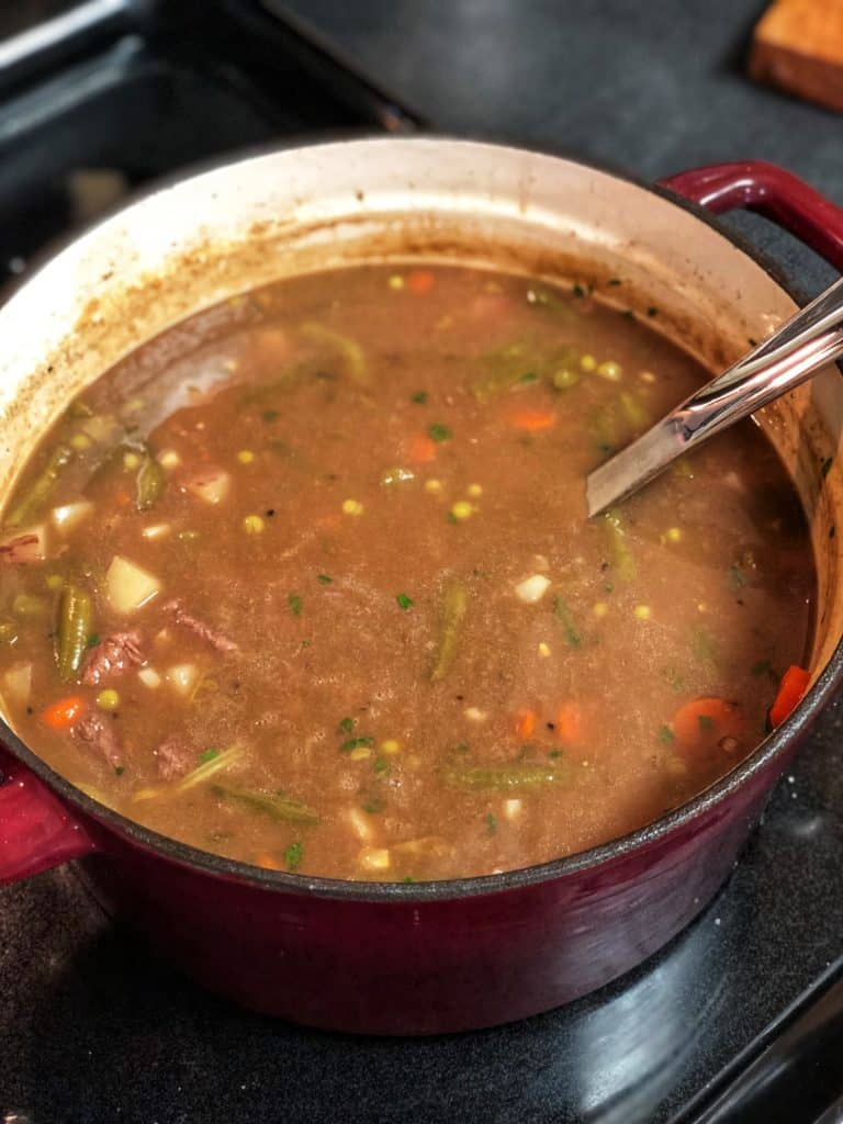 A pot of Hearty Beef Stew