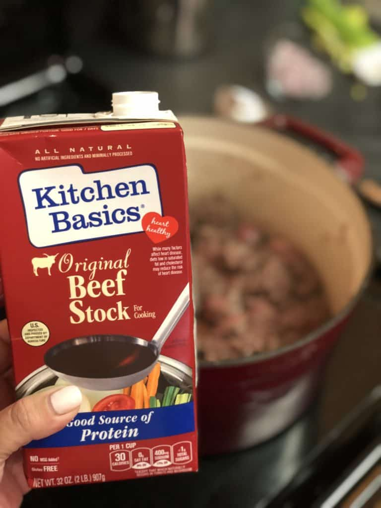 a carton of beef stock