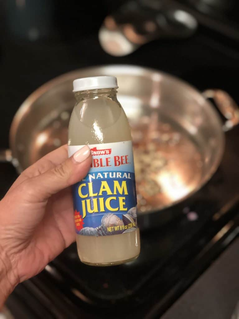 bottle of clam juice