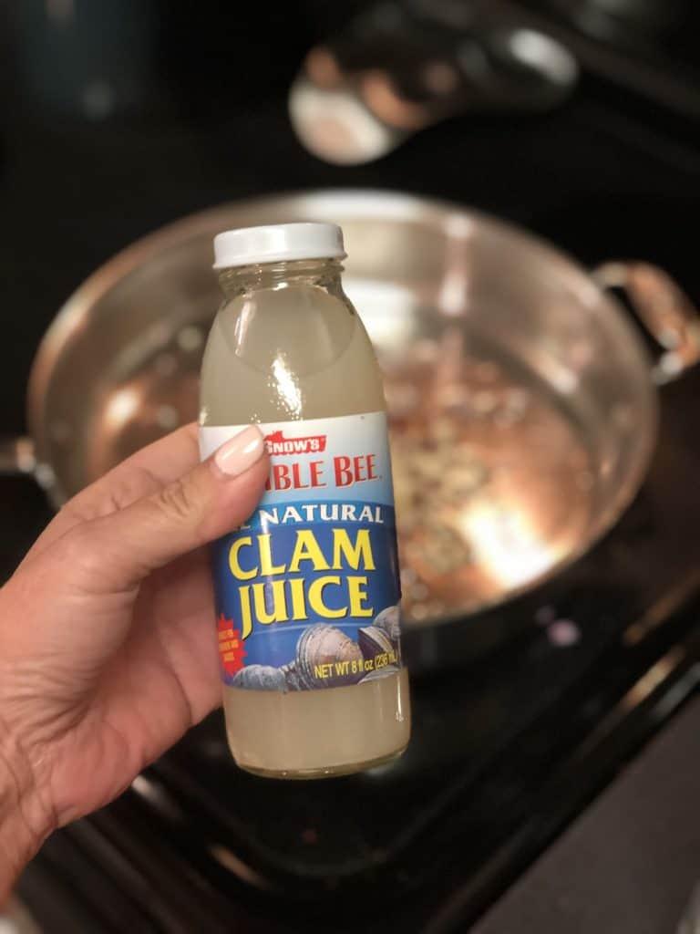bottle of clam juice